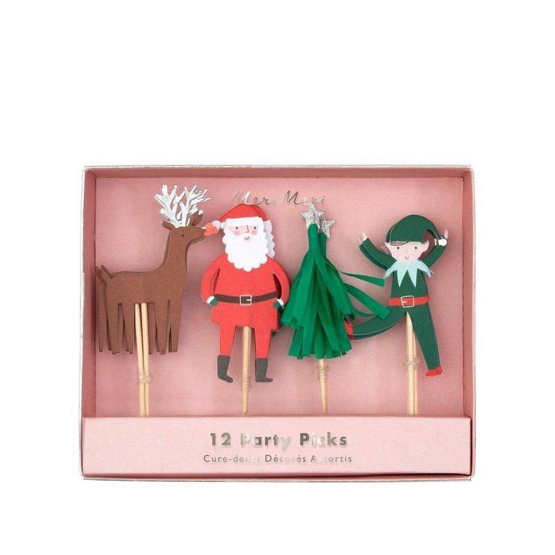 12 Toppers navideños surtidos