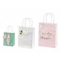 3 Bolsas de papel navideñas