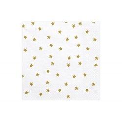 20 Servilletas de papel con estrellas doradas