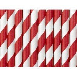 10 Pajitas de papel, espiral rojo.