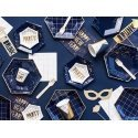 Plato-papel-estrellas-confeti-azul-marino-dorado-cumpleaños-chico-fin-de-año-noche-vieja-navidad