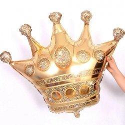 Globo metalizado Corona Reyes Magos. 106 cms