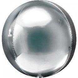 Globo órbita plata metalizado
