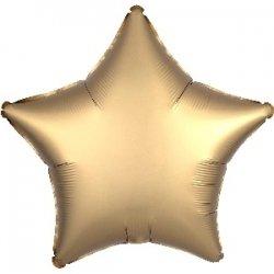Globo estrella dorada, metalizado mate. 48 cms