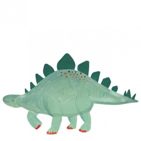 4 Platos-Bandeja Dinosaurio Stegosauros