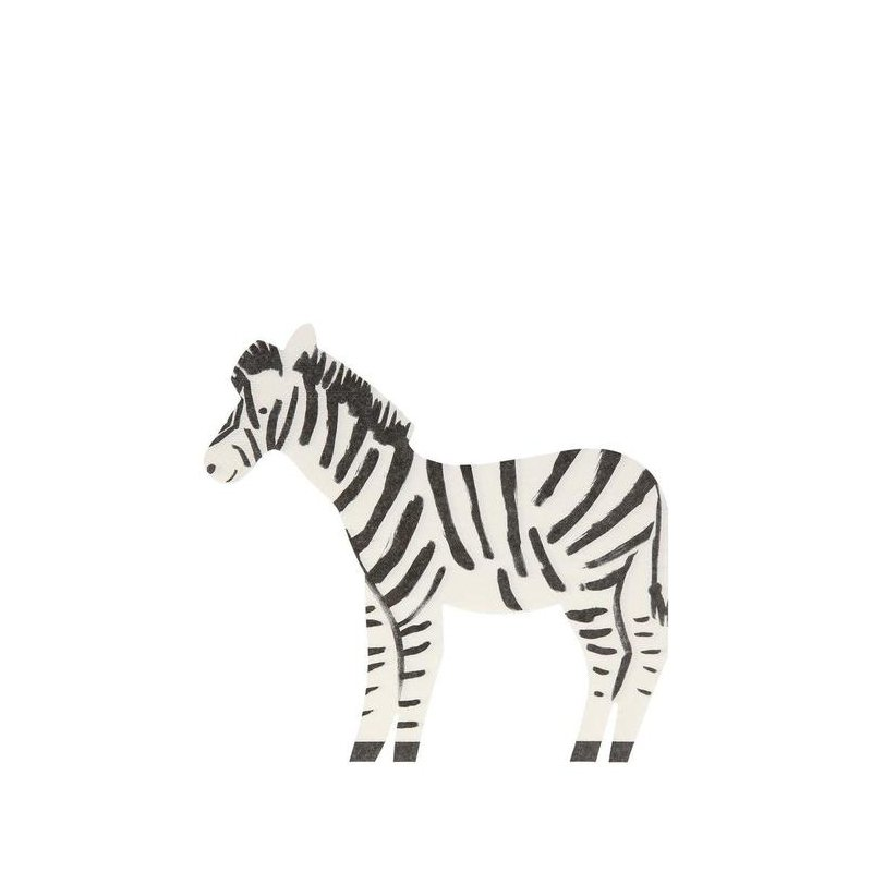 20 Servilletas de papel, Cebra safari