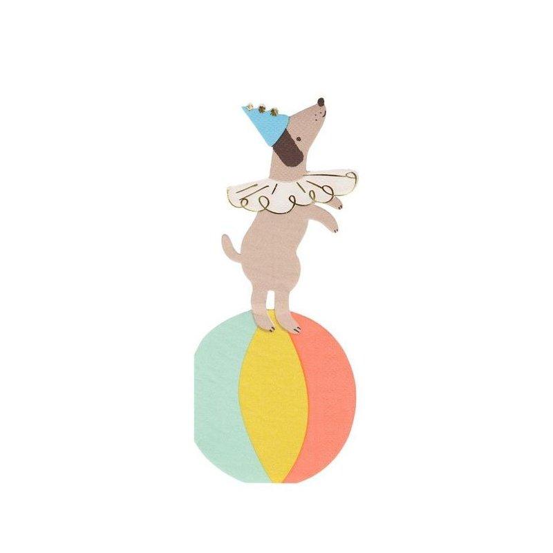 16 Servilletas perrito, Fiesta en el Circo