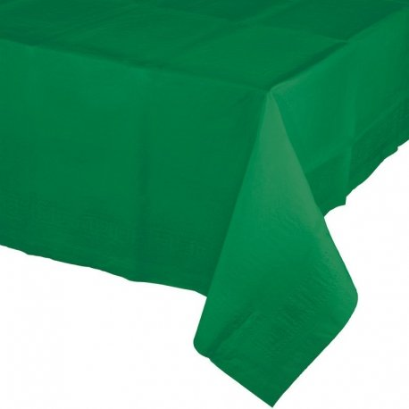 Mantel de papel Verde esmeralda 1.37x2.74 m