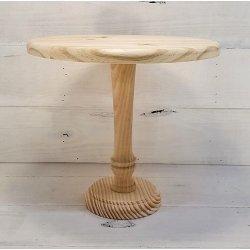 Cake Stand de madera natural. 30 cms