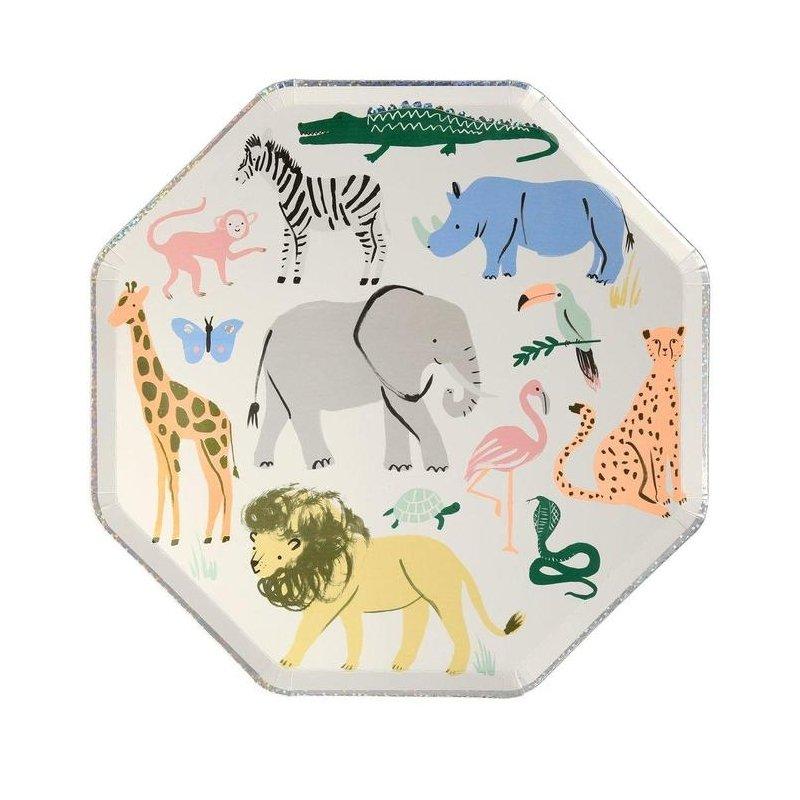 8 Platos Safari-Animales de la selva