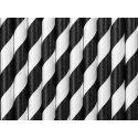 10 Pajitas de papel rayas Negras