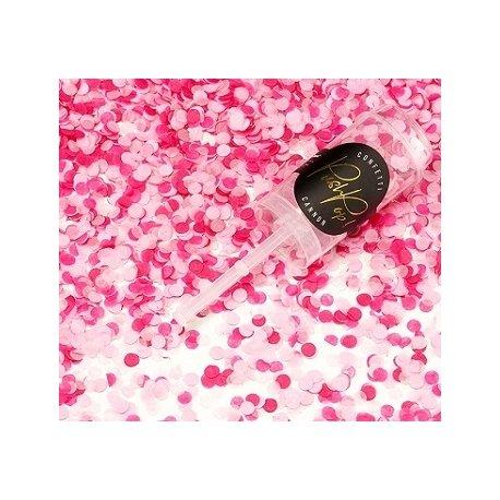 Push pop con Confeti en 2 tonos de rosa
