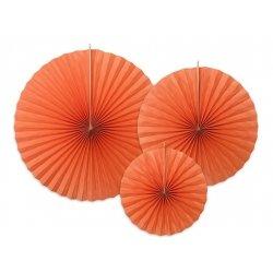 3 Abanicos de papel Naranja