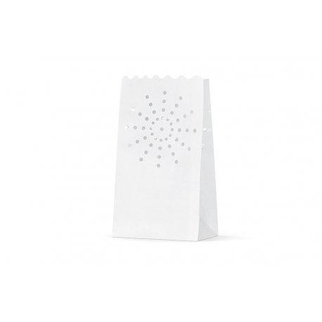 10 Bolsas de papel blanco para velas