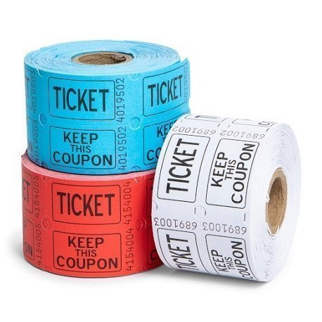 500 Tickets para Fiestas. Disponibles en 3 colores
