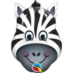 Globo metalizado Zebra. 36 cms