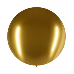 Globo Chrome/metalizado Dorado. Aprox 60 cms