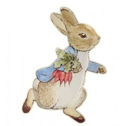 12 Platos Peter Rabbit. 23 x 30 cms