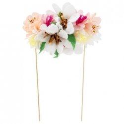 Topper - Decoración para tarta. Flores jardín inglés