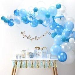 Guirnalda de globos en tonos azules