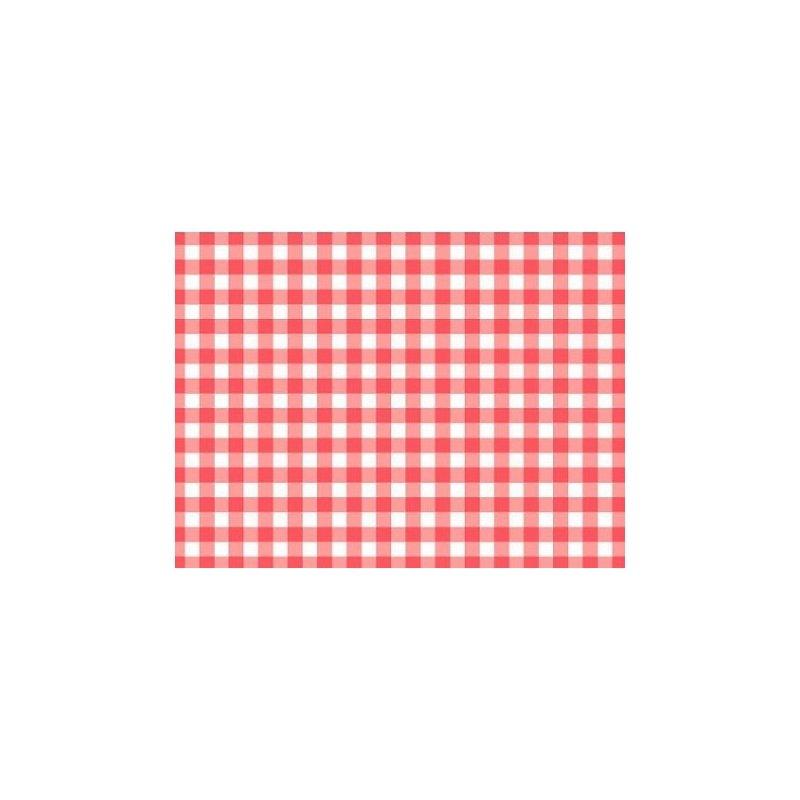 10 Manteles individuales de papel con cuadros vichy en rojo