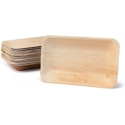 6 Platos - Bandejas de madera. 25x16 cms