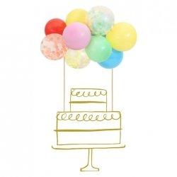 Topper - Decoración para tarta. Mini globitos de colores