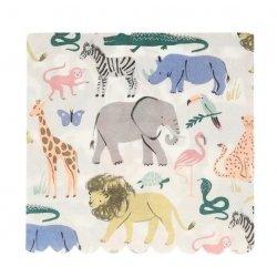 20 servilletas animales de la selva - safari