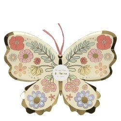 8 Platos en forma de Mariposa