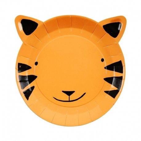12 Platos tigre. Fiesta animales de la selva