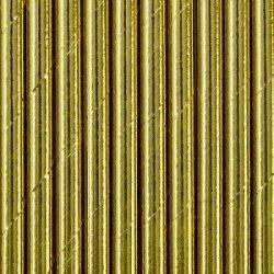 10 Pajitas de papel doradas
