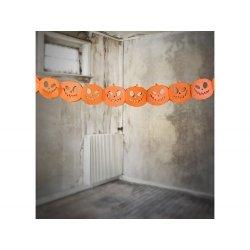 Guirnalda con calabazas de papel. Halloween