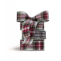 Cinta de regalo, cuadros escoceses 30 mm x 15 m