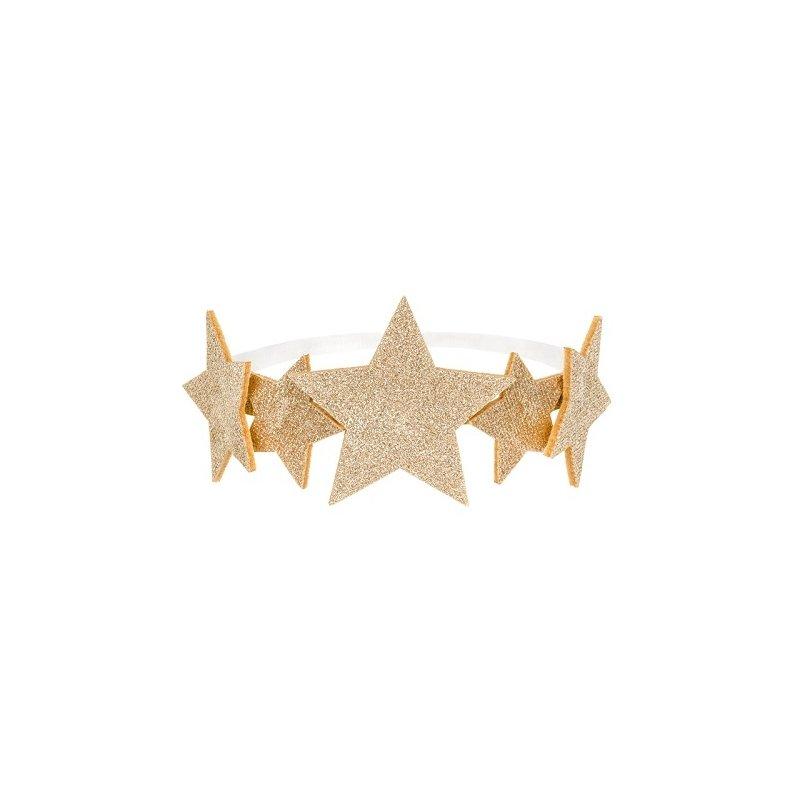 Corona de Princesa con estrellas doradas