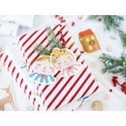 12 Etiquetas colgantes navideñas de papel