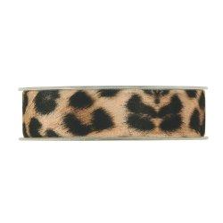 Cinta de regalo terciopelo, leopardo. 25 mm x 8 m