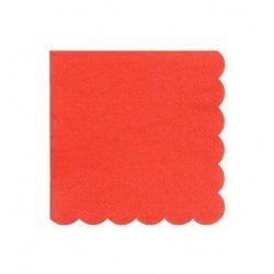 20 Servilletas de papel rojas, festoneadas