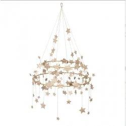 Lámpara colgante / Chandelier con estrellas doradas