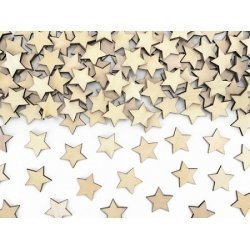 Confeti estrellitas de madera