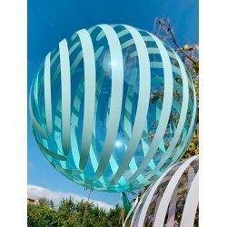Globo burbuja rayas mint. 46 cms.