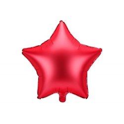 Globo metalizado estrella roja. 48 cms