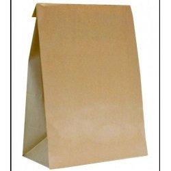 50 Bolsas de papel kraft, tipo americano. 25x43x15 cms.