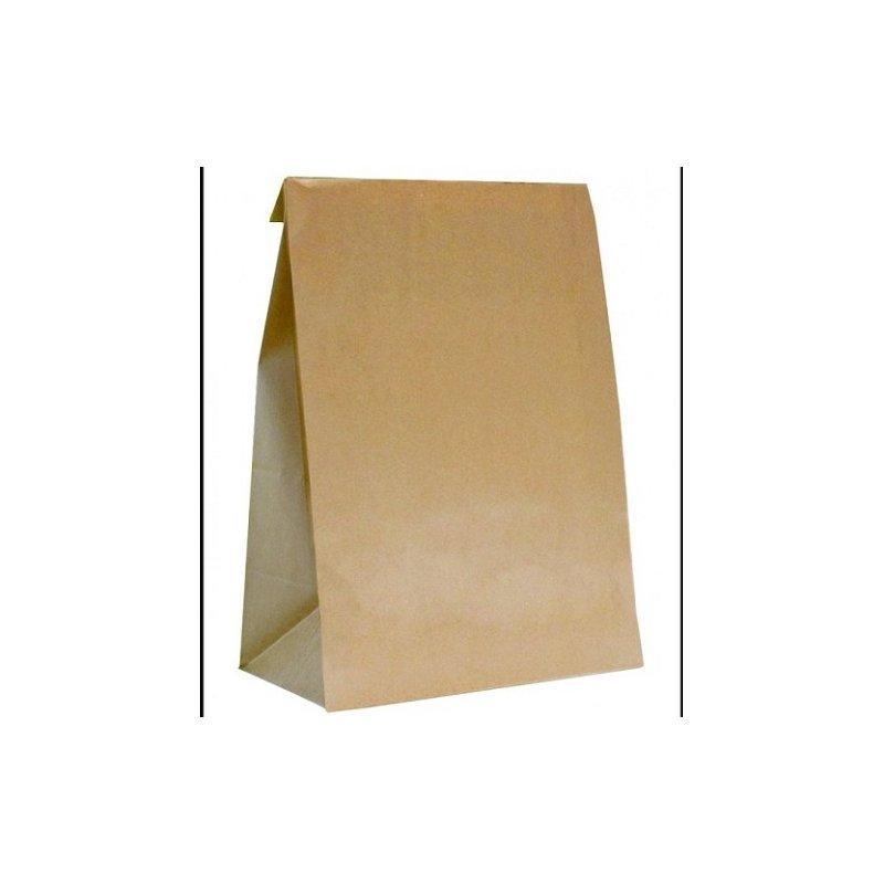 250 Bolsas de papel tipo americano. 25x43x15 cms.