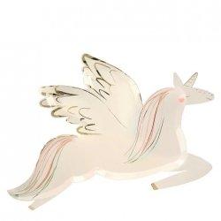 8 Platos Unicornio alado