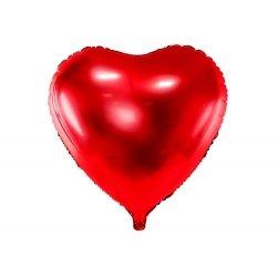 Globo corazón Rojo metalizado. 45 cms