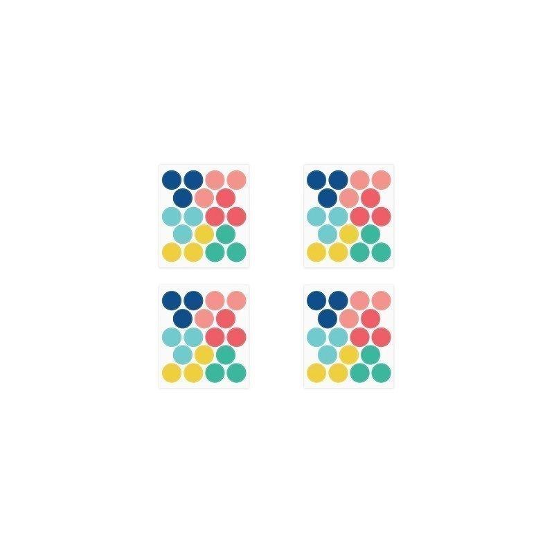72 Círculos de vinilo adhesivo en colores surtidos