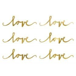 6 palabras LOVE doradas