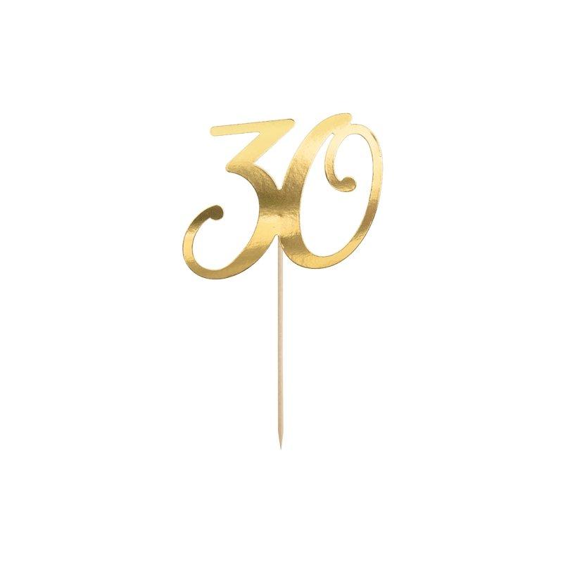 Topper dorado 30 cumpleaños