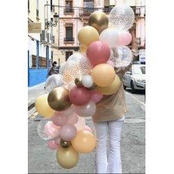 Guirnalda de globos en tonos nude - Kit