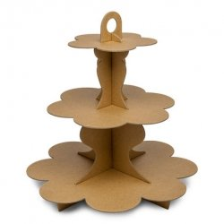 Cake stand - Expositor kraft natural